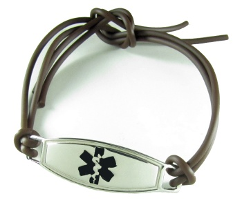 Rubber Knot Medical ID Bracelet