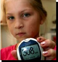 Young Girl With High Glucose Reading