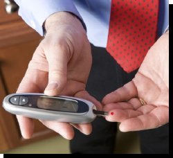 Man Testing His Glucose Levels