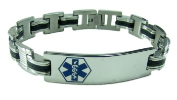 Blue EMS Medical Bracelet for Men