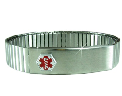 Expandable Medical Bracelet for Men - Stainless Steel