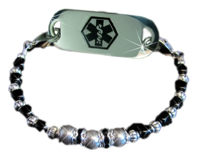Gray Oyster Medical ID Bracelet