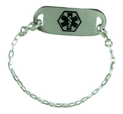 Sterling Silver Finnigan Medical ID Bracelet for Women