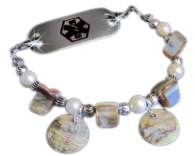 Mother of Pearl Medical ID Bracelet