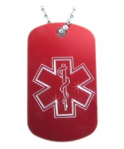 Star of Life Medical Dog Tag Necklace