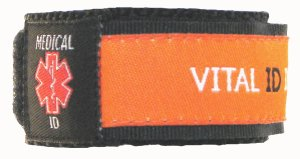 Orange Medical ID Wristband