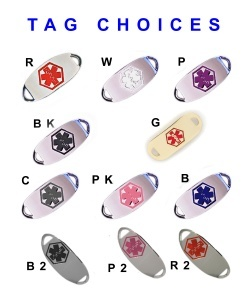 Medical ID Watch Tag Choices