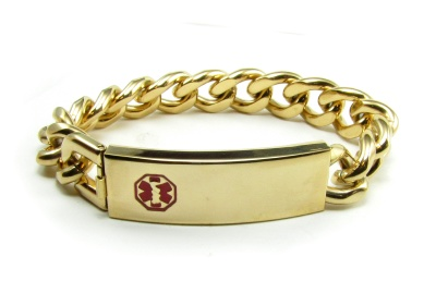 Coumadin ID Bracelet In Gold