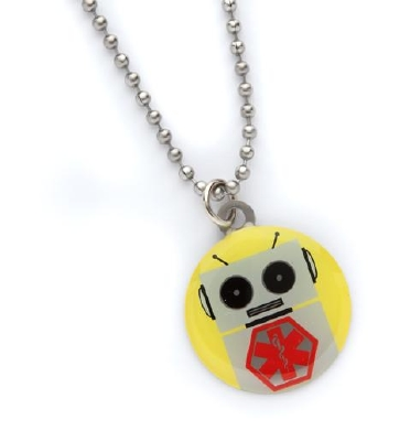 Robot Kids's Medical Alert ID Necklace