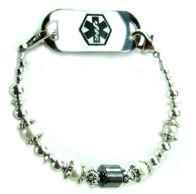 Silver Lining Medical ID Bracelet for Women
