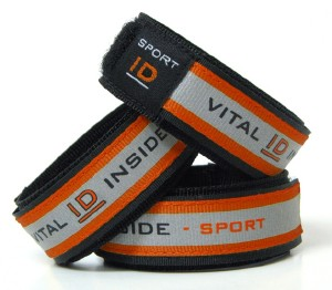 Red Sports ID Wristband