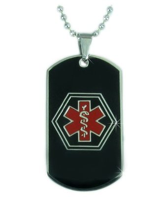 Black Star of Life Medical ID Necklace