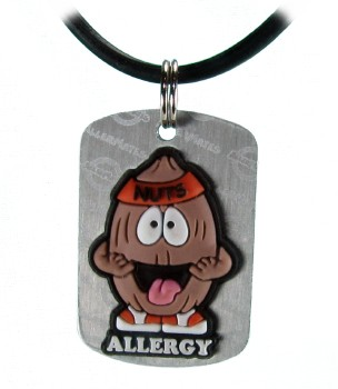 Tree Nut Allergy Necklace