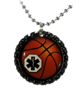 Our New Basketball Medical ID Necklace