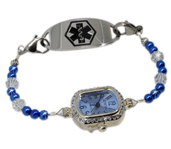 Blue Ice Medical ID Watch for Women