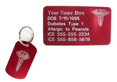 Caduceus Key Chain and Wallet Card combo set