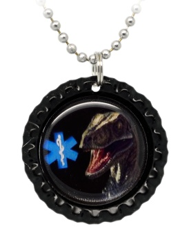 Dinosaur Number 6 Medical ID Necklace