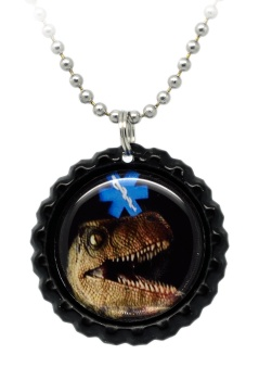 Dinosaur Number 8 Medical ID Necklace
