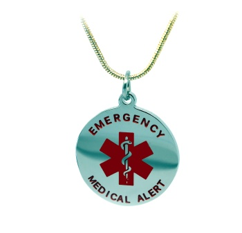 EMS Round Star of Life Medical ID Necklace