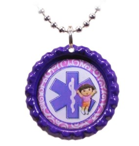 Great Time for Girls Medical ID Necklace