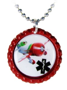 GeeBee Airplane Medical ID Necklace