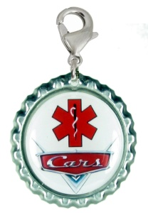 Car Grill Medical Id for Boys with Red EMS