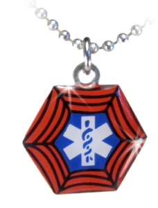The Superhero 3 Medical Necklace for Kids
