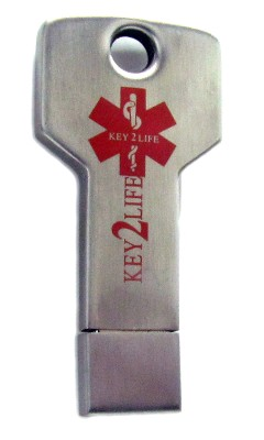 Key Shaped Medical ID USB