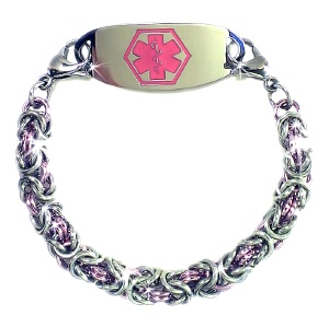 Light Rose Byzantine Medical ID Bracelet