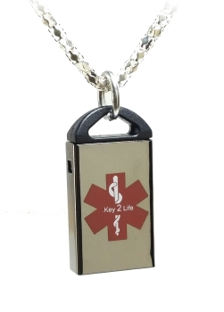 Micro Medical ID USB Necklace