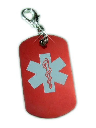 Mini Medical Dog Tag Zipper Pull