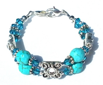 Nazhoni Blue Medial ID Bracelet for Women