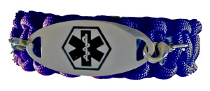 Paracord Medical ID Bracelet in Dark Blue