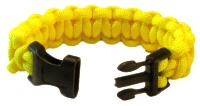 Back of Yellow Paracord Medical Bracelet