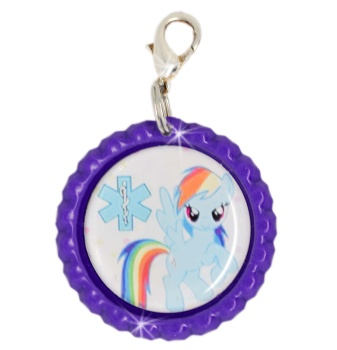 Little Pony Medical ID Charm in Blue