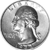 Quarter Shown for Comparison of Size