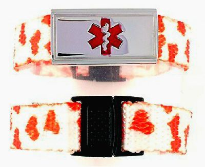Red Heart Medical Bracelet for Girls