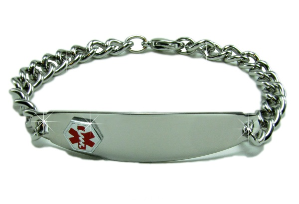 Medical ID Alert Bracelets - Sterling Silver Medical ID Alert