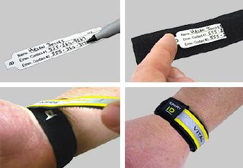 Medical ID Wristband Instructions