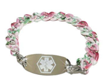 Spring Flowers Medical ID Bracelet for Women