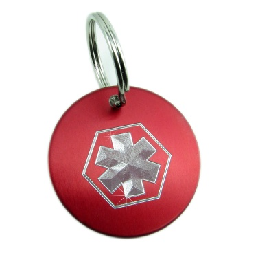 Star Of Life Medical ID Key Chain