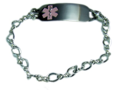 Sterling Silver Lucy Medical ID Bracelet for Women
