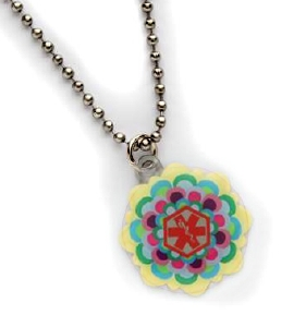 Fun Flower Girls Medical ID Necklace