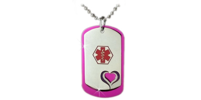 Medical ID Necklaces for Girls