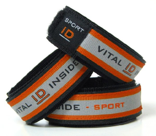 Sport ID Wristband Red