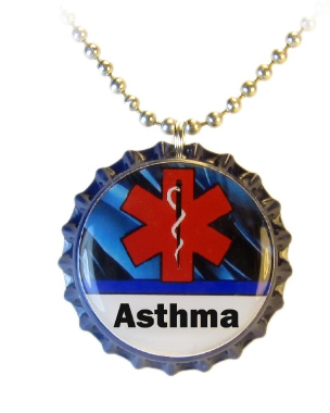 Asthma Blue Streak Necklace