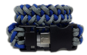Grey and Blue Paracord USB