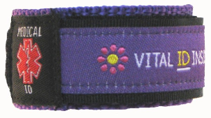 Medical ID Sports Band Purple
