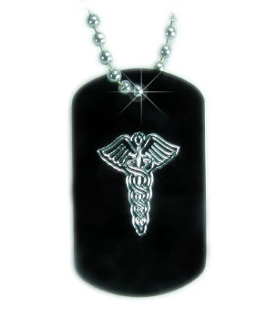 Mini Medical ID Necklace - Caduceus