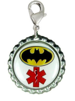 Hero Medical ID Charm - Red